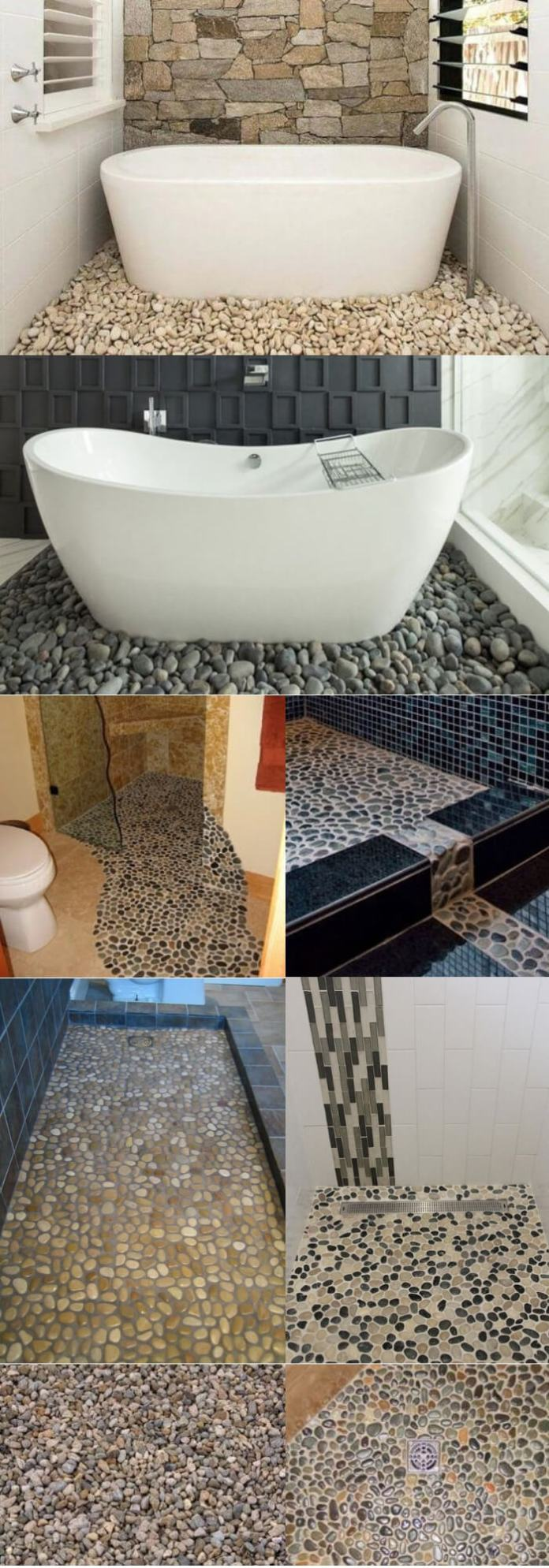 Gravel bathroom floor tile ideas