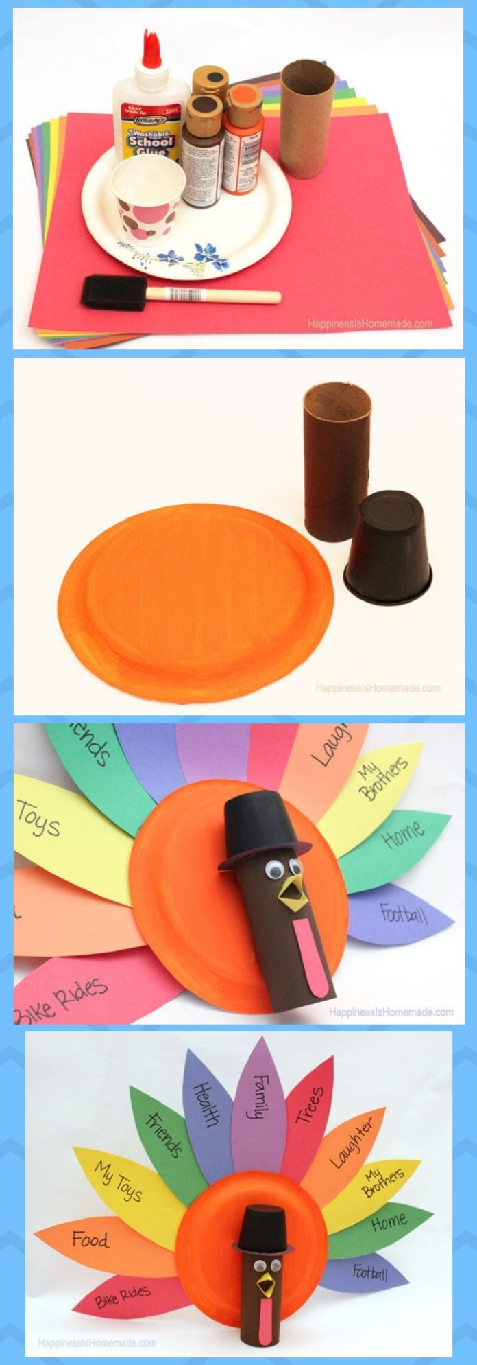 Gratitude Turkeys | Simple Ideas for Kids' Crafts for Thanksgiving - FarmFoodFamily.com