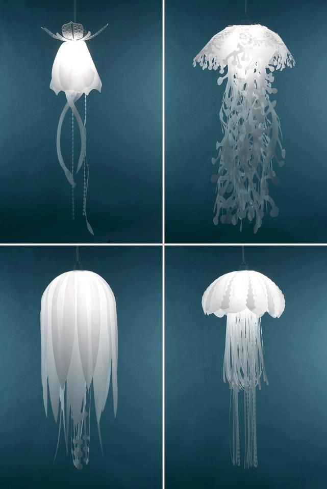 Jelly fish lamps | Homemade Decorative Lamp Shade Ideas | FarmFoodFamily