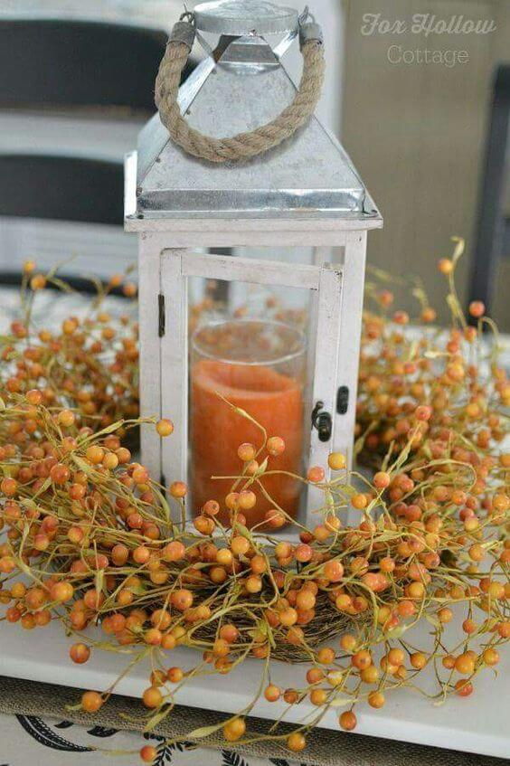 From Ball Jar Blue | DIY Fall Candle Decoration Ideas - Farmfoodfamily.com
