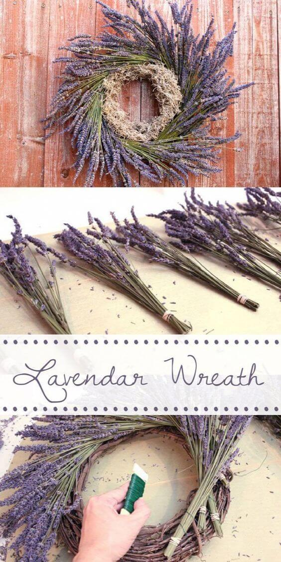 Lavender Wreath | Creative, Easy, and Inexpensive Christmas Wreaths | Farmfoodfamily.com
