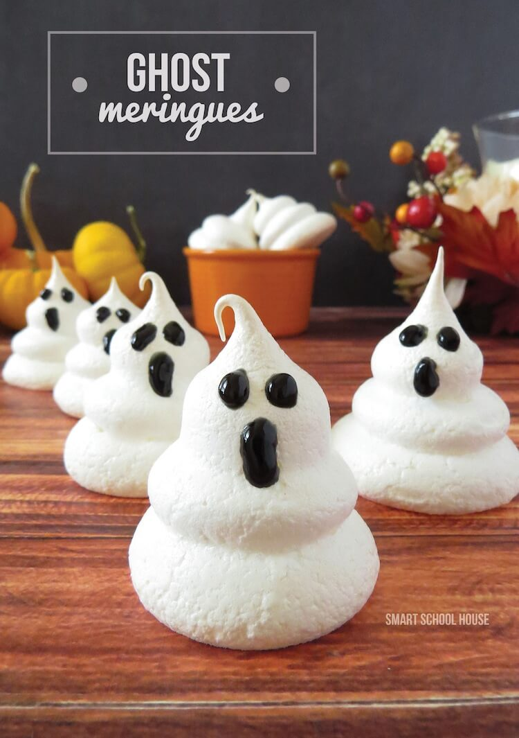 Ghost Meringues | Halloween Party Food Ideas | Halloween Party Themes For Adults