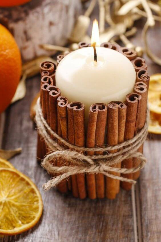 Fall Nature Crafts | DIY Fall Candle Decoration Ideas - Farmfoodfamily.com