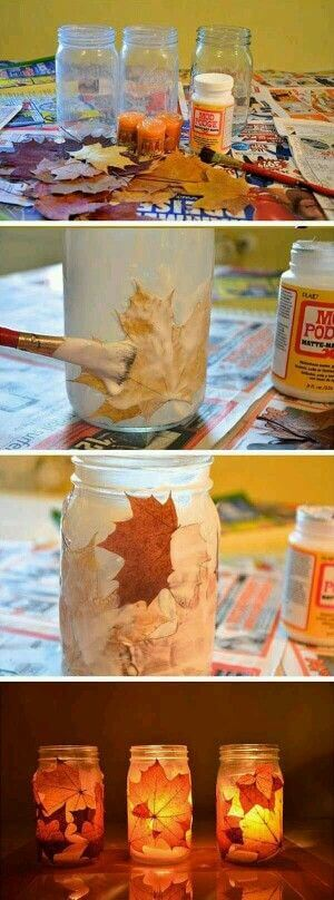 Hotjas | DIY Fall Candle Decoration Ideas - Farmfoodfamily.com