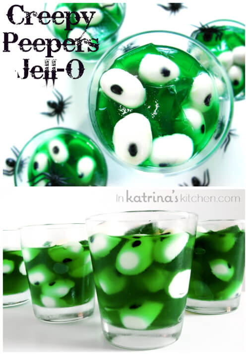 Creepy Peeper Halloween Jell-o | Halloween Party Food Ideas | Halloween Party Themes For Adults