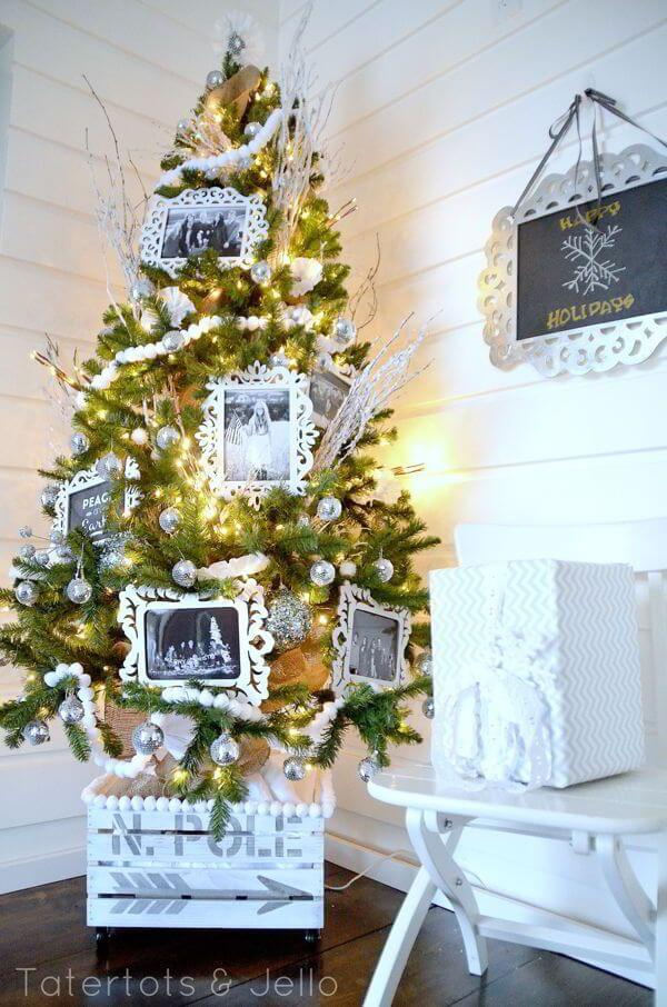 White Christmas Tree   Best Way to Decorate Christmas Trees on a Budget: Inexpensive or Free & Easy Holiday Ornaments & Decorations