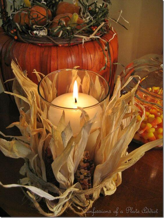 Easy Pottery Barn Inspired Fall Candle | DIY Fall Candle Decoration Ideas - Farmfoodfamily.com