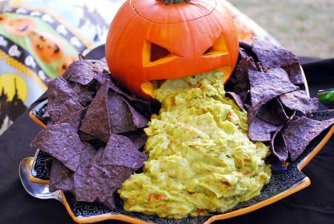 Vomiting Pumpkin with Guacamole | Halloween Party Food Ideas | Halloween Party Themes For Adults