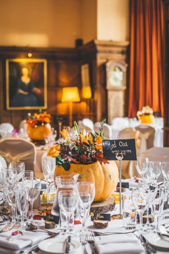Pumpkins and lace for a Seasonal Wedding | Halloween Wedding Theme Ideas - Farmfoodfamily.com
