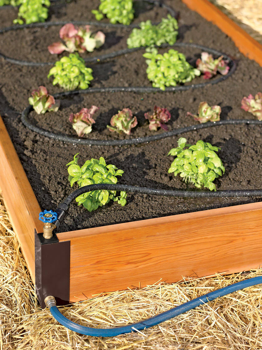 Raised Bed Soaker System | How to Build a Raised Vegetable Garden Bed | 39+ Simple & Cheap Raised Vegetable Garden Bed Ideas - farmfoodfamily.com
