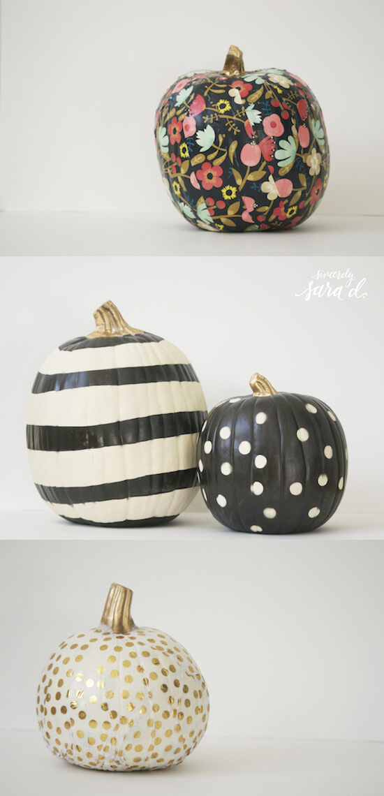 Unique ways to decorate pumpkins | No-Carve Pumpkin Decorating Ideas For This Halloween
