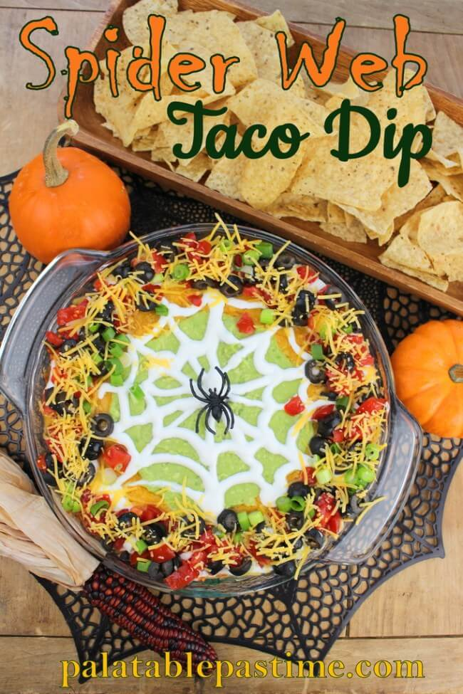 Spider Web Taco Dip | Halloween Inspired Recipes: How to Make Simple Halloween Party Food