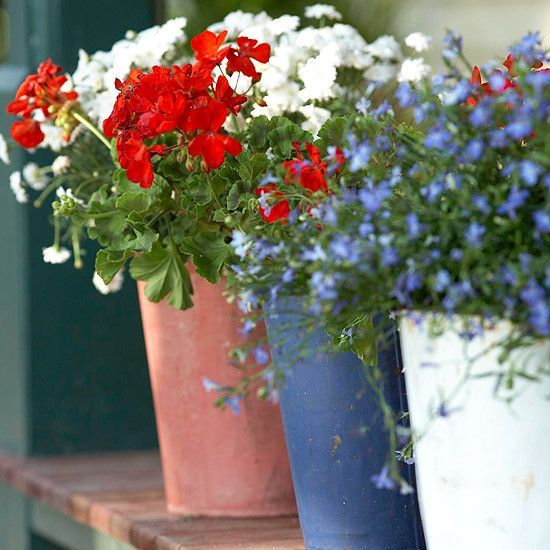 Planter and pretty flowers | Flower Garden Ideas for Containers and Windowboxes