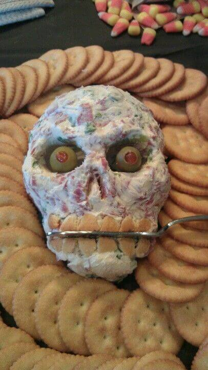 Skull Cheeseball | Halloween Party Food Ideas | Halloween Party Themes For Adults
