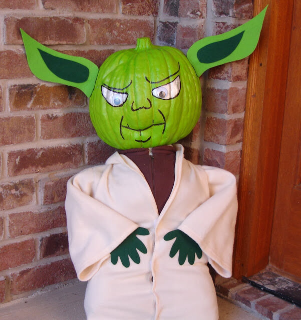 No Carve Yoda Star Wars Pumpkin | No-Carve Pumpkin Decorating Ideas For This Halloween