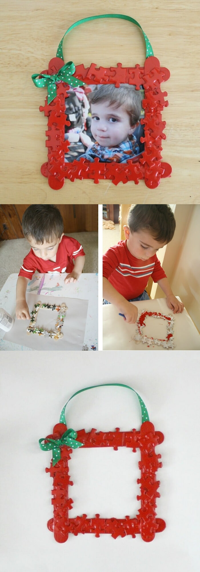Puzzle Piece Frame | Photo Frames | Easy, Inexpensive, and Creative Christmas Crafts for Kids