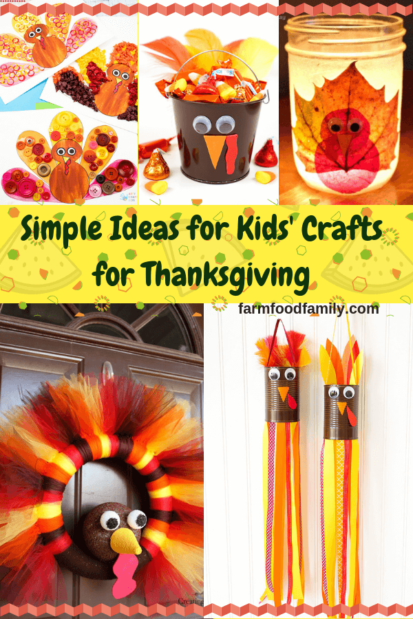 Simple Ideas for Kids' Crafts for Thanksgiving