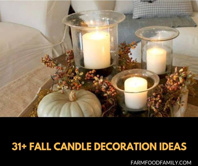 31+ Best Fall Candle Decoration Ideas