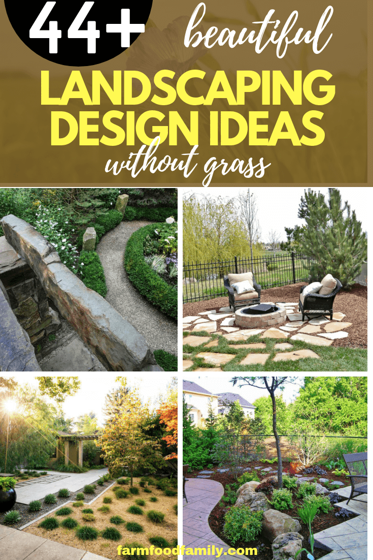 44+ Best Landscaping Design Ideas Without Grass 2020 ... on Backyard Ideas Without Grass  id=33869