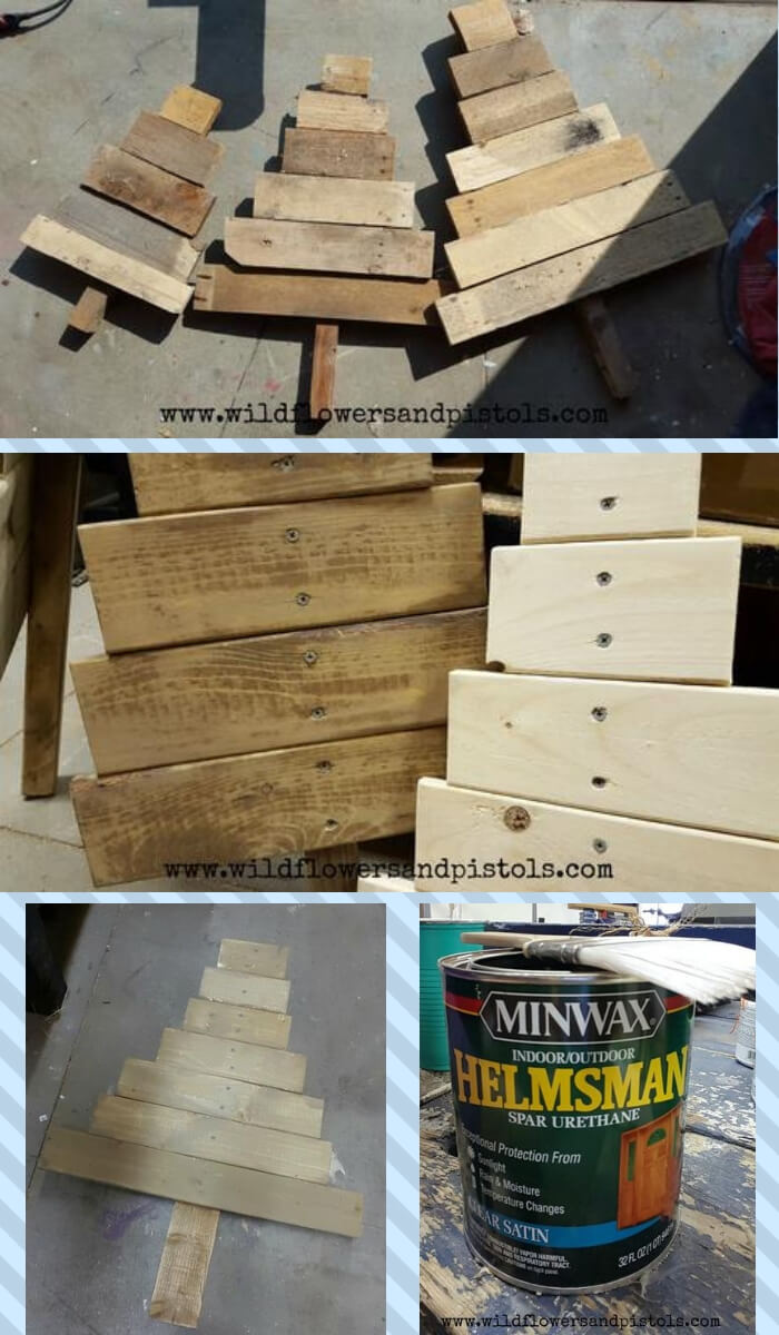 Pallet Wood Christmas Trees   Cute and Easy Christmas Ornament Ideas