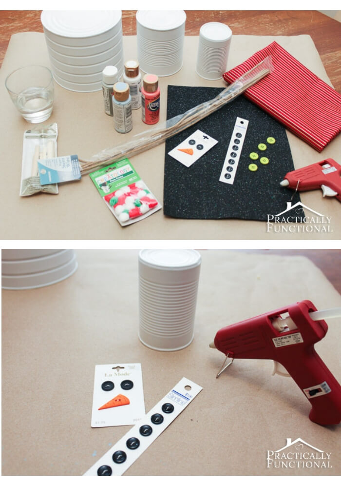 Tin Can Snowman | Cute and Easy Christmas Ornament Ideas
