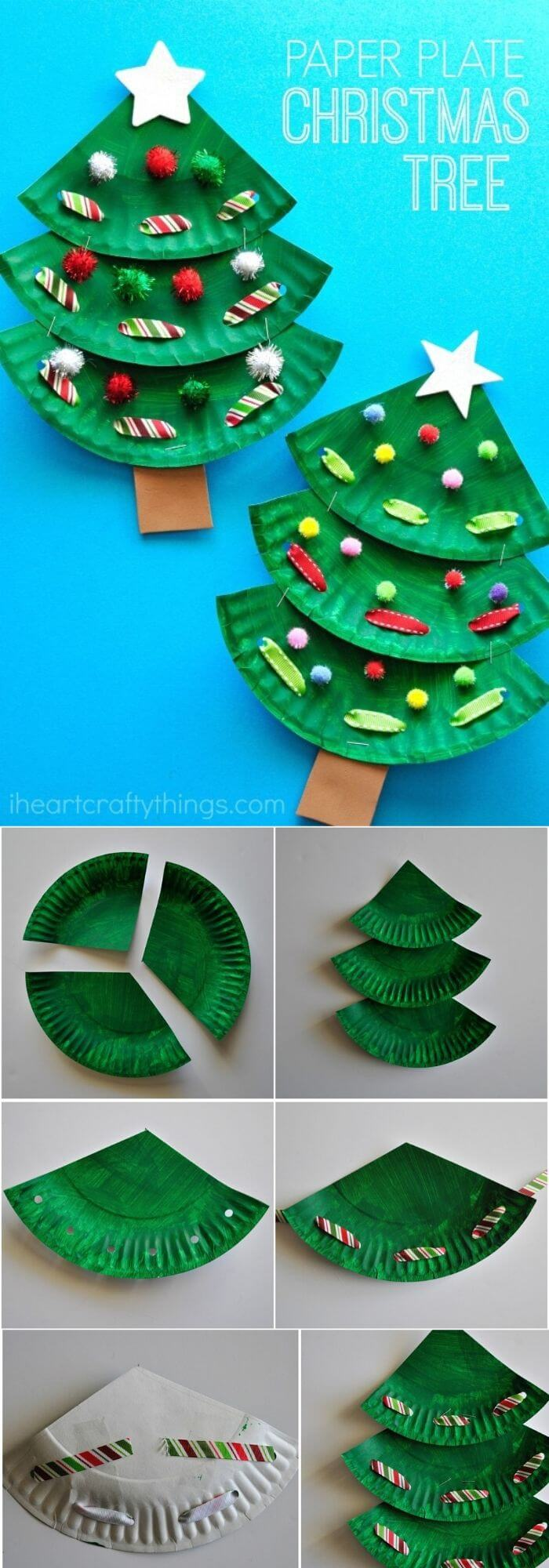 Paper Plate Christmas Tree Craft | Easy, Inexpensive, and Creative Christmas Crafts for Kids