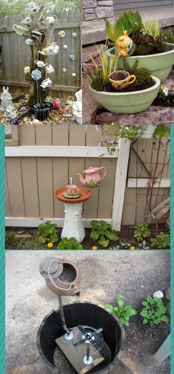 DIY Garden Teapot Art & Decor | How to make teapot garden art