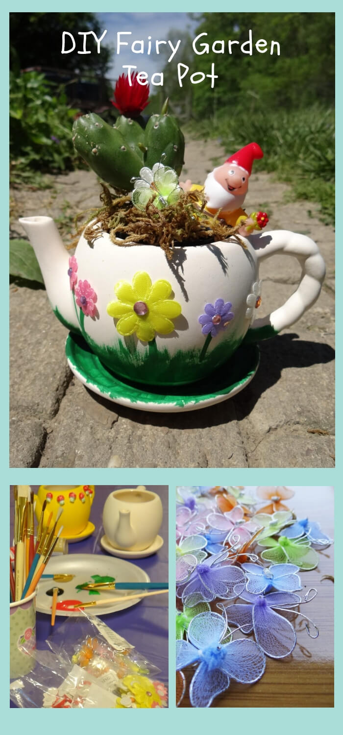 DIY Fairy Garden Tea Pot