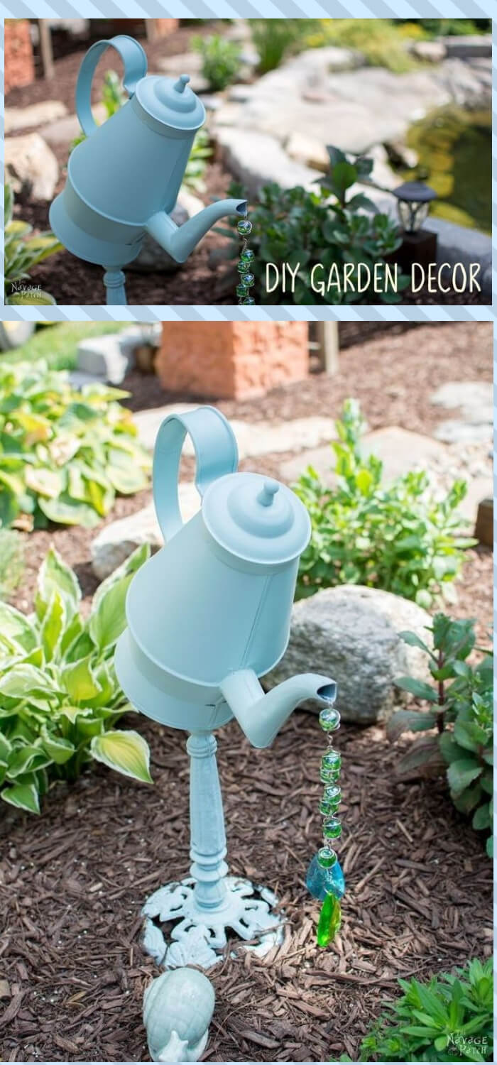Coffee Pot Garden Decor Tutorial