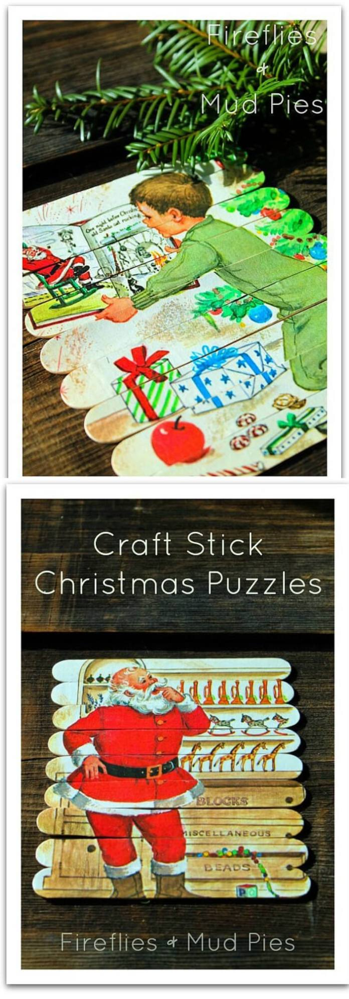 Christmas Puzzles | Homemade Ornaments | Easy, Inexpensive, and Creative Christmas Crafts for Kids