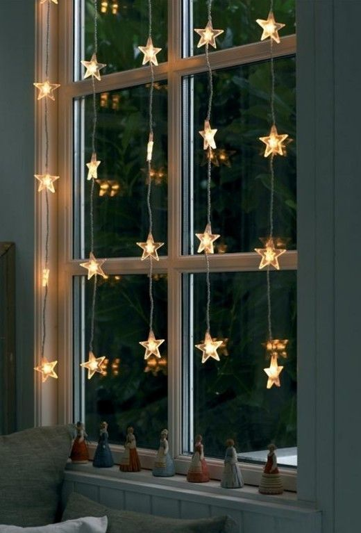 Christmas window star light | Christmas Door and Window Lighting Decorating Ideas
