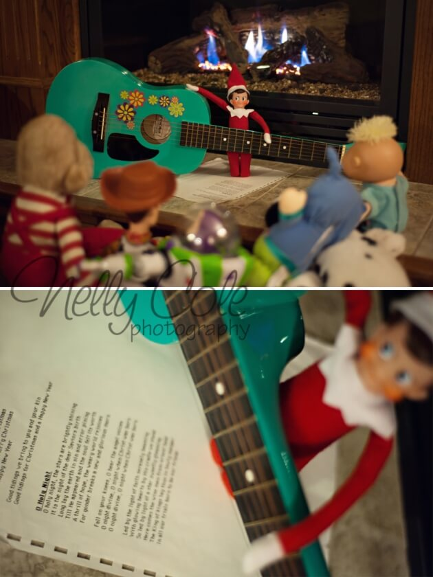 Playing Christmas songs | Fun & Simple Elf on Shelf Ideas For This Christmas