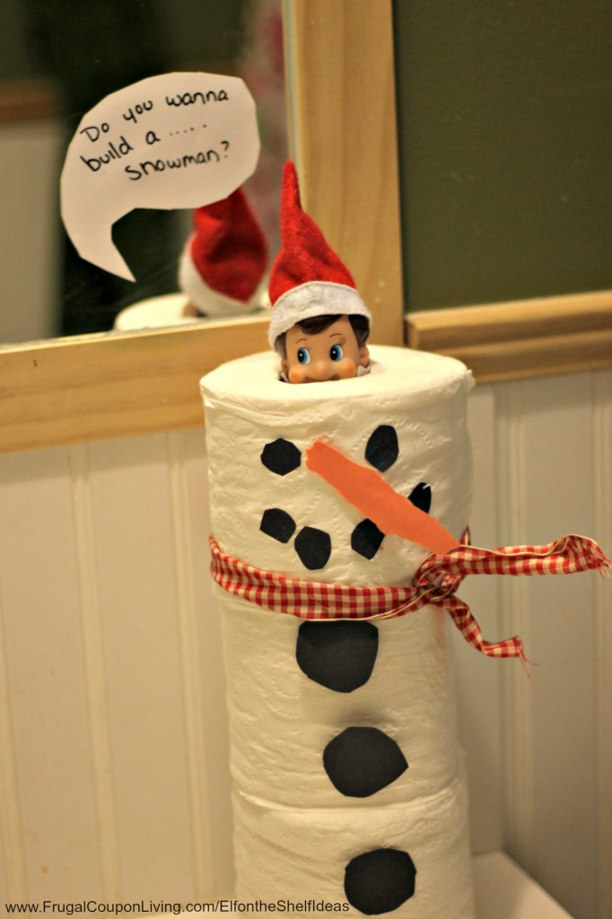 Toilet Paper Snowman Elf | Fun & Simple Elf on Shelf Ideas For This Christmas