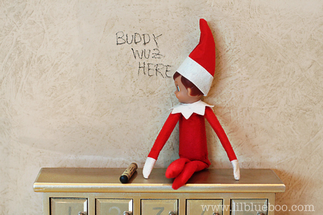 Graffiti | Fun & Simple Elf on Shelf Ideas For This Christmas