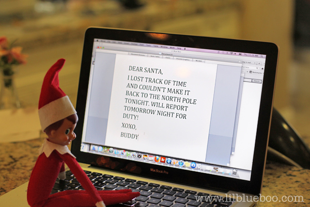 Emailing Santa | Fun & Simple Elf on Shelf Ideas For This Christmas