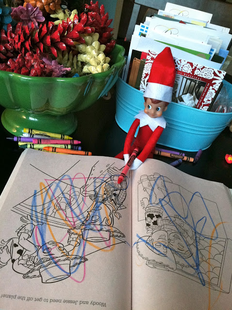 Coloring Elf | Fun & Simple Elf on Shelf Ideas For This Christmas