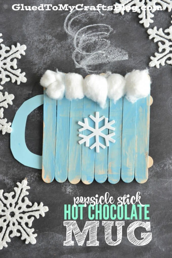 Popsicle Stick Hot Chocolate Mug | Christmas Craft Ideas for Preschoolers