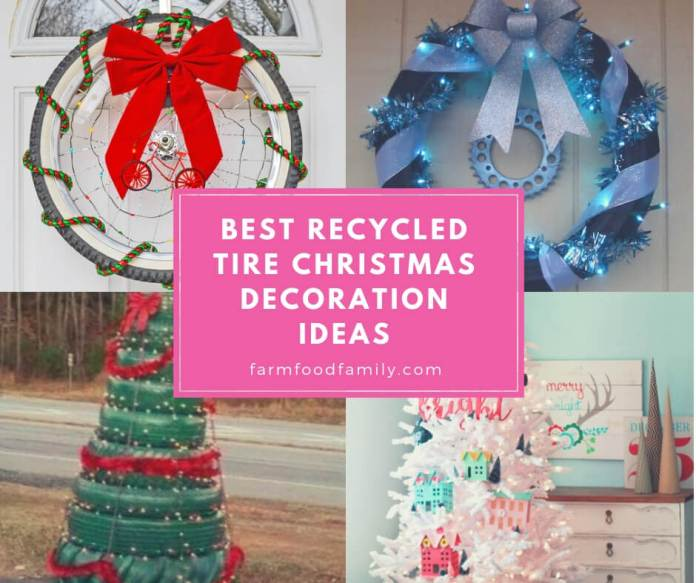 Best Recycled Tire Christmas Decorations