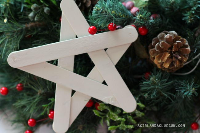Popsicle stick stars | Homemade Ornaments | Easy, Inexpensive, and Creative Christmas Crafts for Kids