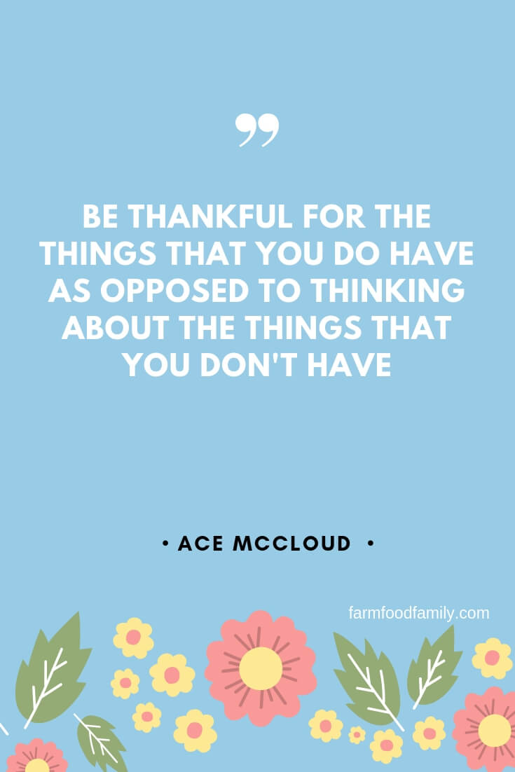 what is being thankful