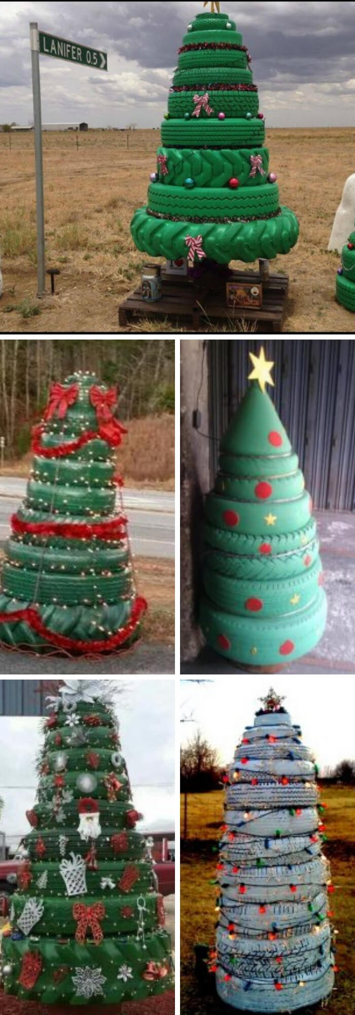 Christmas Tree Recycled Ideas.13 Best Recycled Tire Christmas Decoration Ideas For 2019