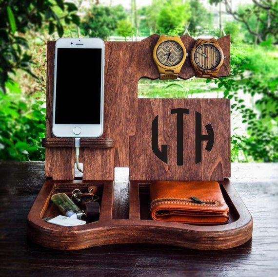 Personalized Docking Station Desk Organize | Christmas Gift Ideas for Dad