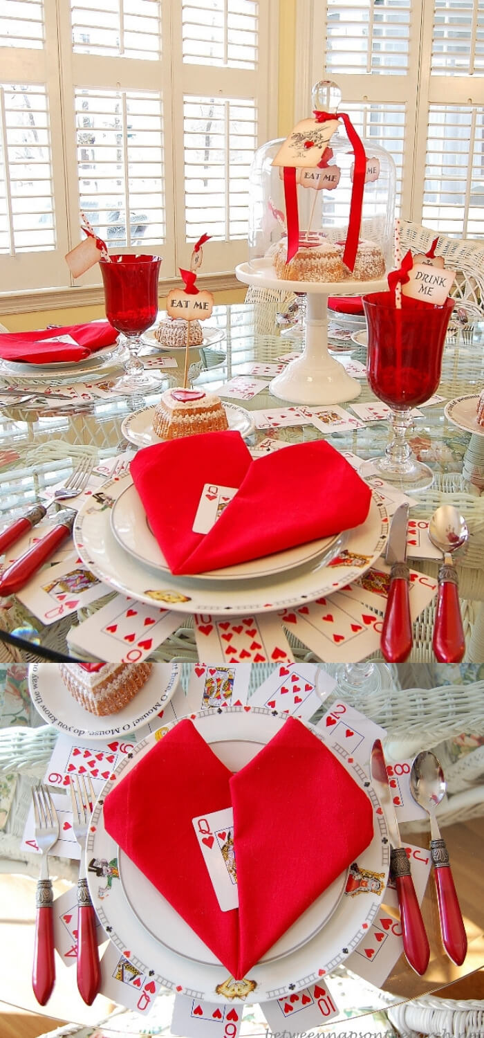 Whimsical Valentine Tablescape | Valentine's Day Decorating Ideas For Your Lovers | FarmFoodFamily.com