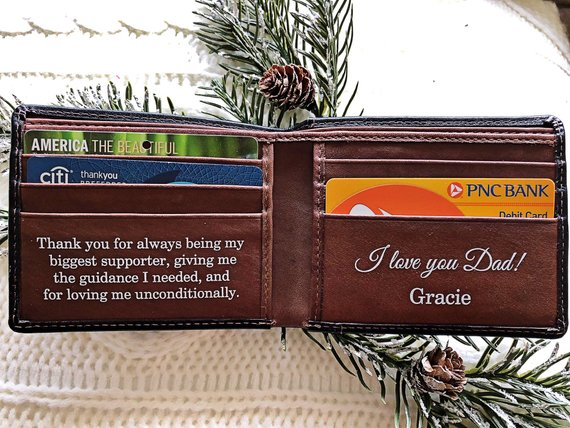 DIY Handmade Leather Wallet | Christmas Gift Ideas for Dad