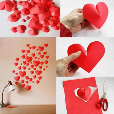Foamy hearts or cardboard | Valentine's Day Decorating Ideas For Your Lovers | FarmFoodFamily.com