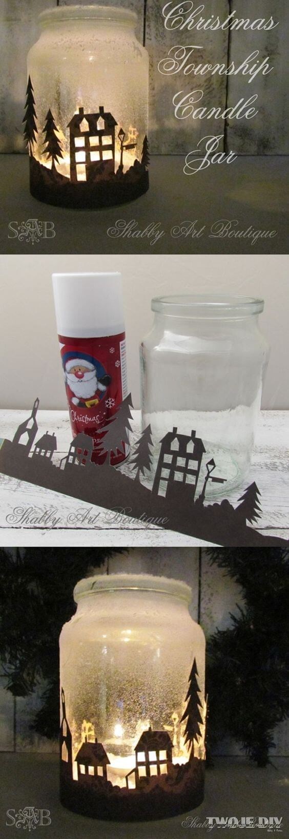 Candle Holders | Christmas Spirit Jars Ideas | FarmFoodFamily.com
