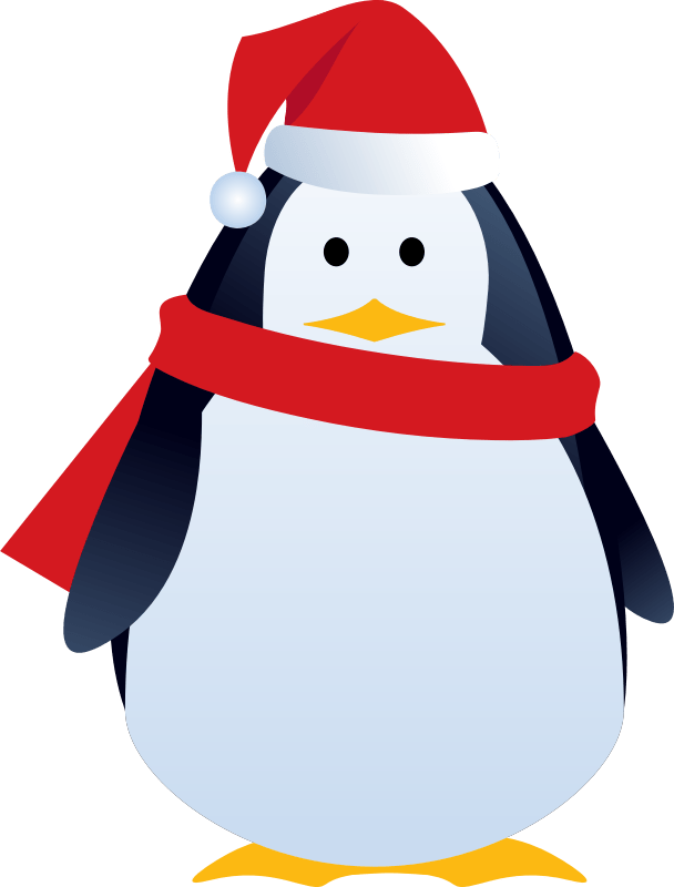Christmas Pinguin Clipart
