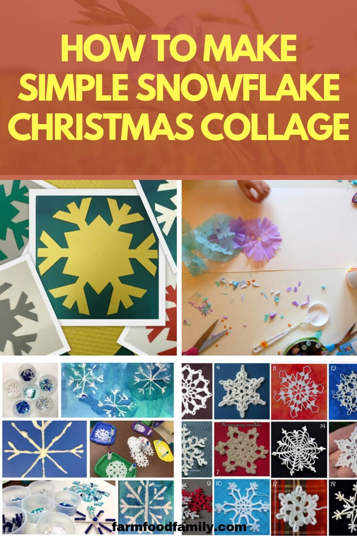 How to Make Simple Snowflake Christmas Collage