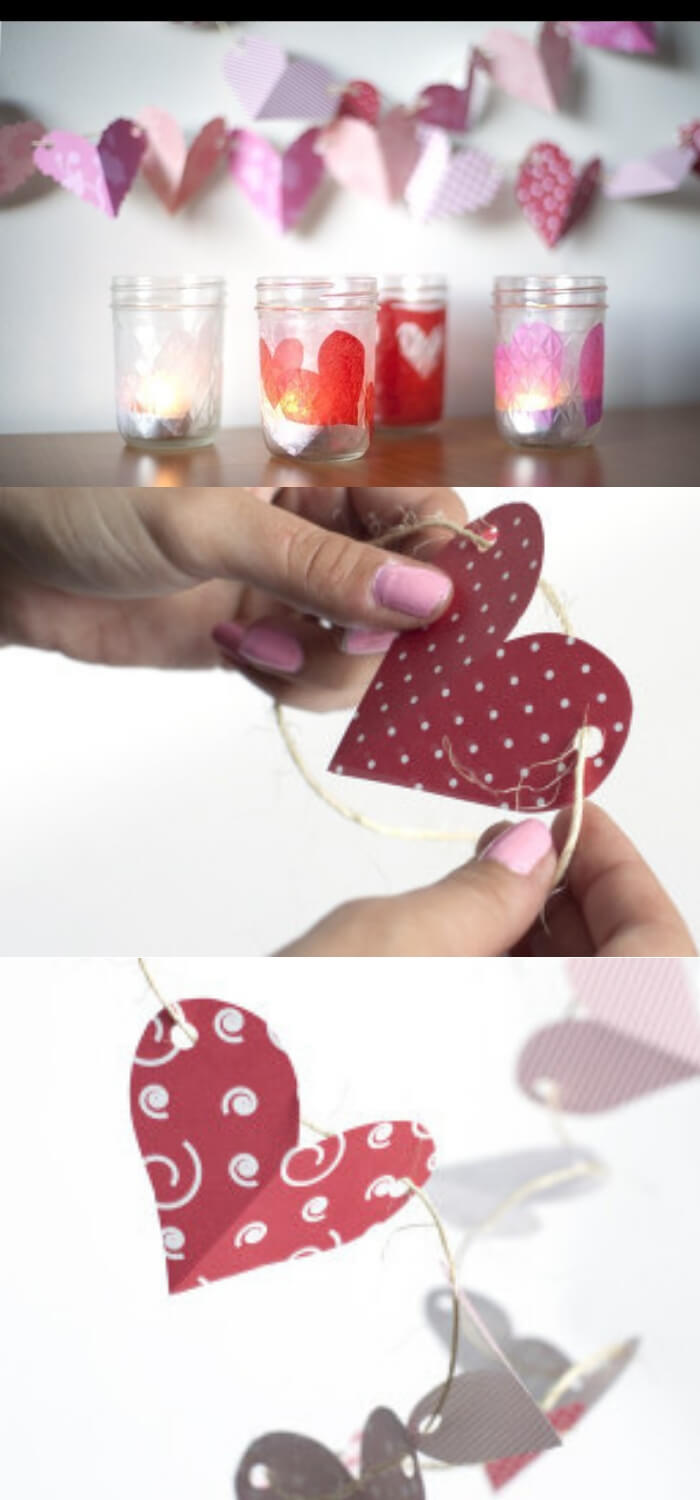 Love Light Candle Holders | DIY Mason Jar Gift Ideas For Valentine's Day | FarmFoodFamily.com