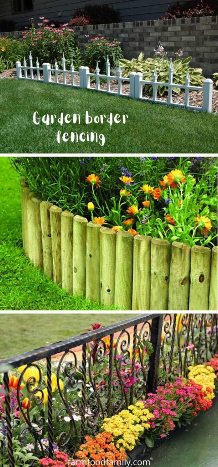 Garden border fencing for edging